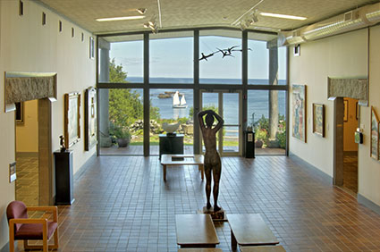 28ogunquit - The view from the lobby sculpture gallery at the Ogunquit Museum of American Art has captivated artists--and visitors-- for many years. (Dan Gair/Ogunquit Museum of American Art)