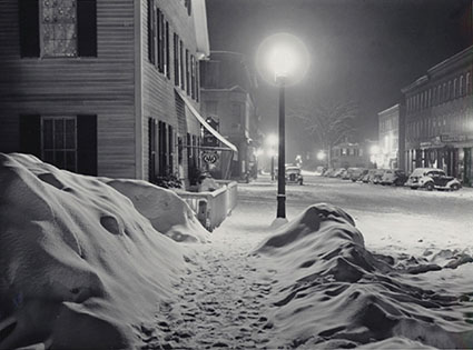 Center of Town After Blizzard, Woodstock, VT- 1940