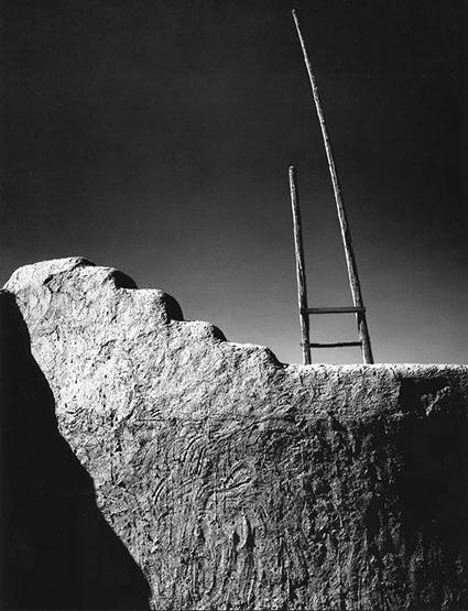 Kiva Ladder, San Ildefonse Pueblo, 1973